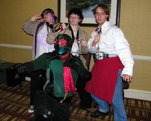 Kamen Rider Cosplayers @ MTAC Ninja Super Sentai Panel