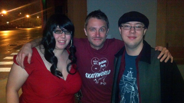 The girlfriend and I with The Nerdist and Talking Dead's Chris Hardwick